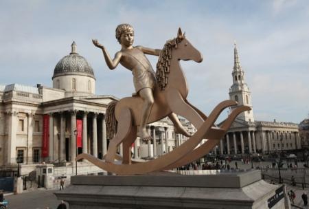 Fourth Plinth unveiling, Trafalgar Square, London. 23.02.12.