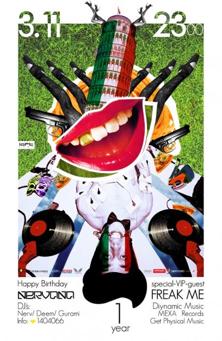 03/11/2012 Happy Birthday Nervana with FreakMe @ The Loft