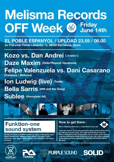 14/06/2013 Melisma Records OFF Week @ Barcelona (Upload)