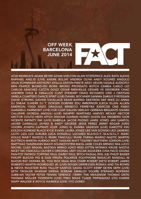 10-15/06/2014 FACT Off Week @ Barcelona