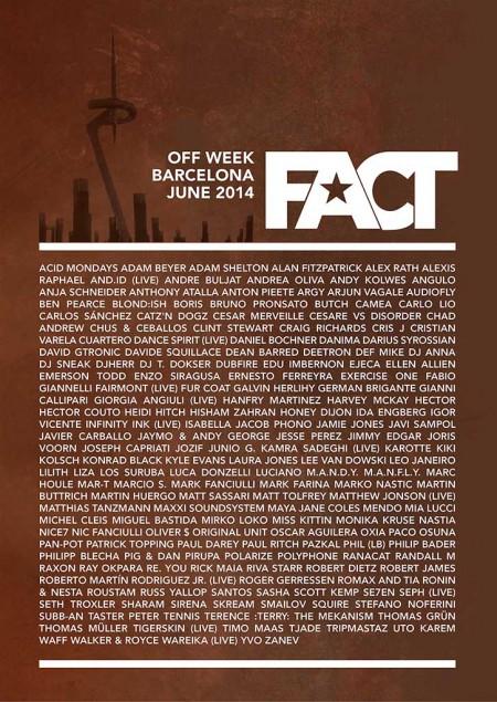 10-15/06/2014 FACT Off Week @ Barcelona